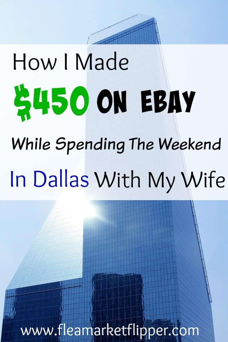 How I made $450 while on a weekend away with my wife!