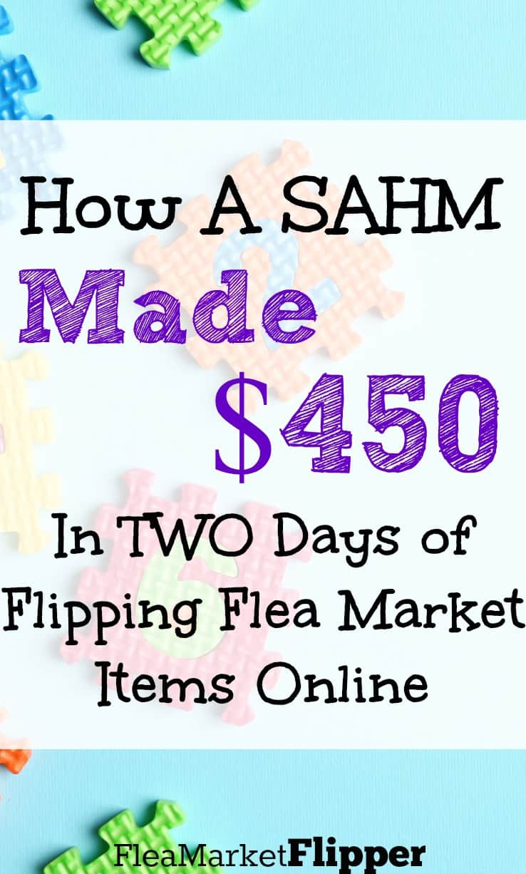 Flipping Flea Market items on ebay is an awesome side hustle for a stay at home moms work!