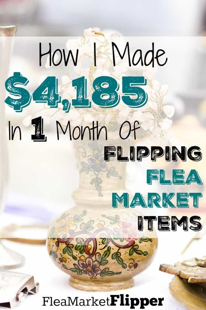 March Income Report - $4,185 profit for the month. Who else loves flea markets and thrift stores like I do?