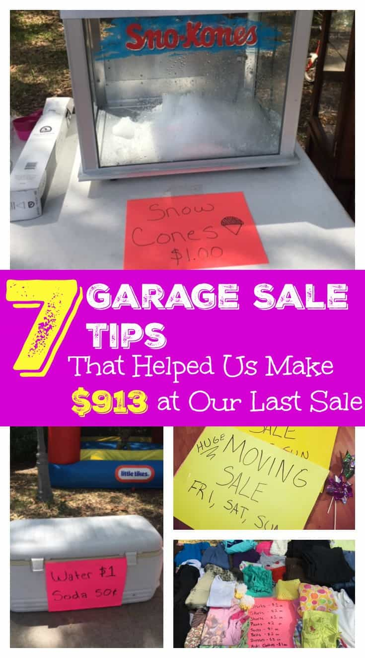 Use these tips to make MORE MONEY at your next yard sale!
