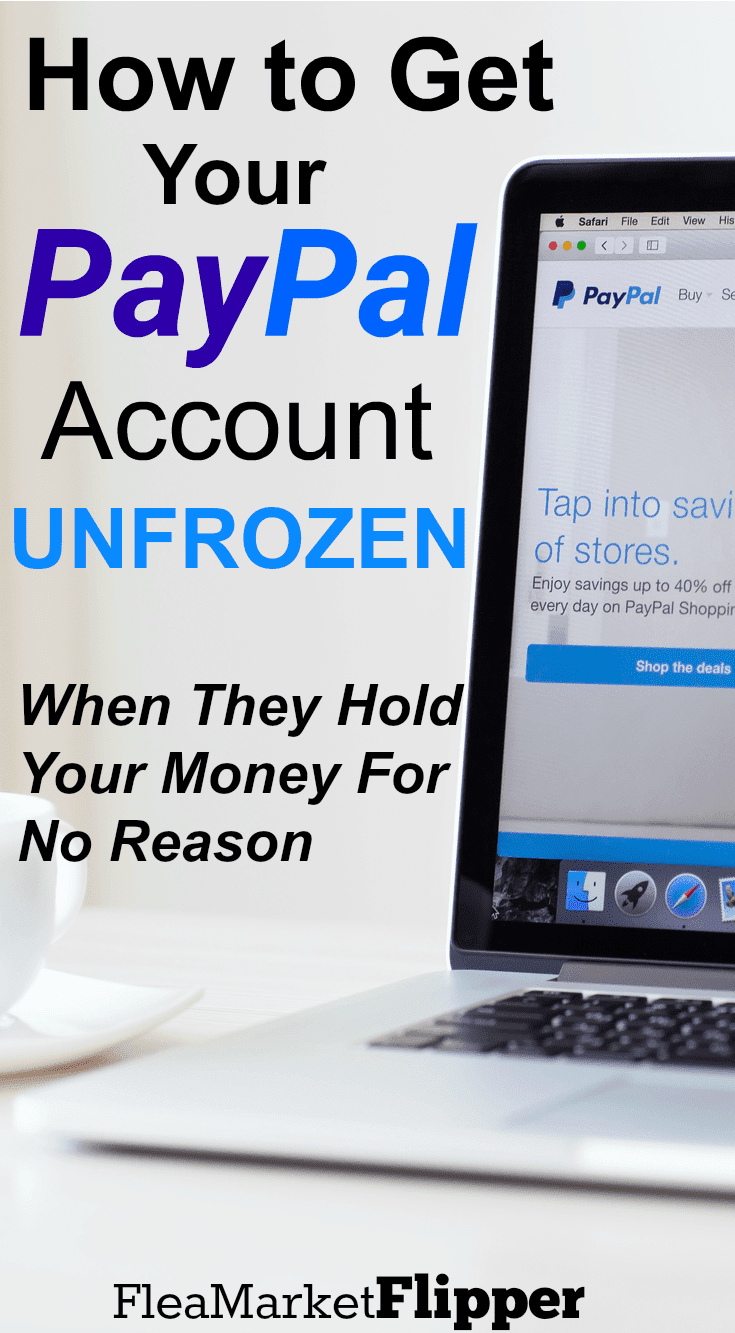 PayPal account frozen