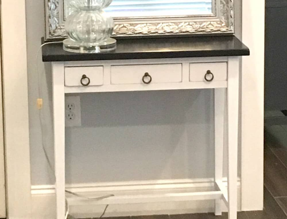 Beautiful Hall Table Refinish For Less Than $10!