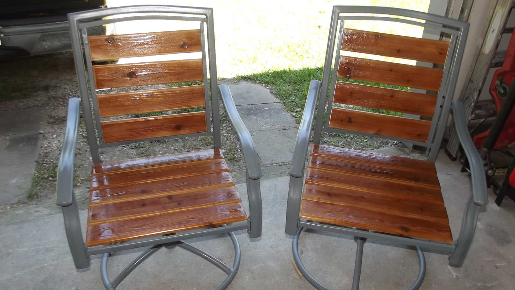 Patio Chair Redo From Old Worn Out Pieces To Lovely Chairs