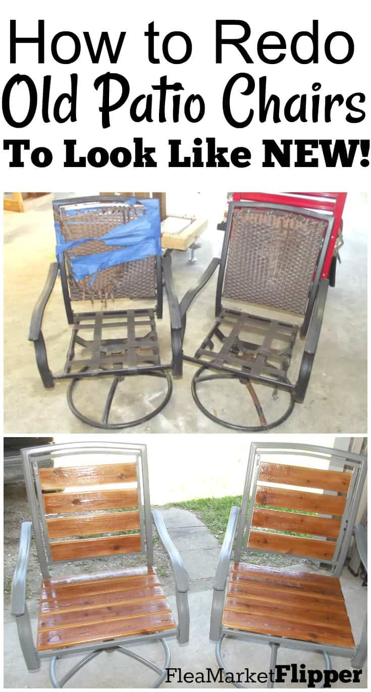 Whitewashed ... - Patio Chair Redo: From Old Worn Out Pieces To Lovely Chairs