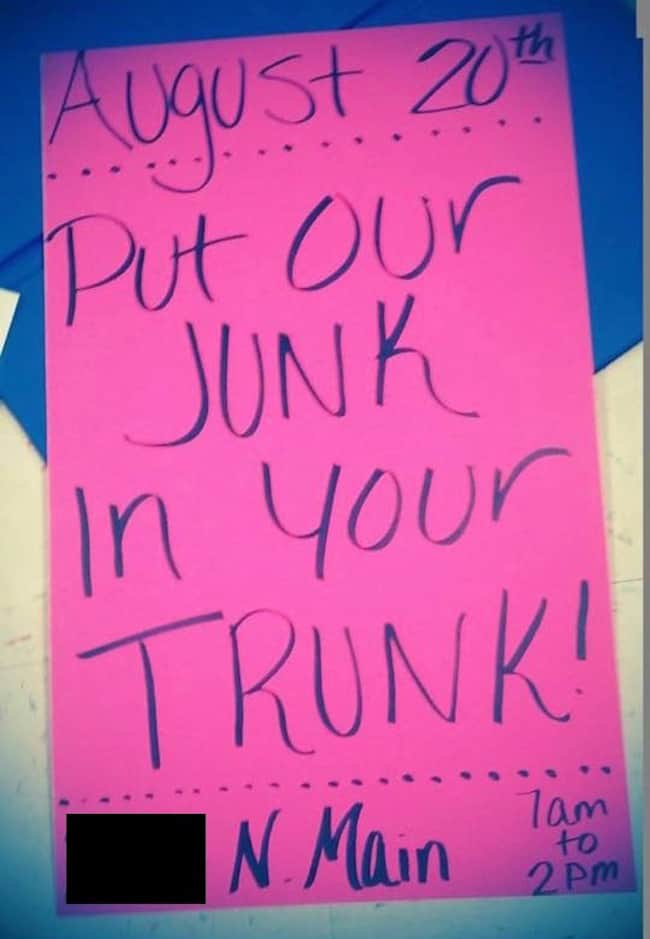 Funny Yard Sale Signs That You Should Use At Your Next