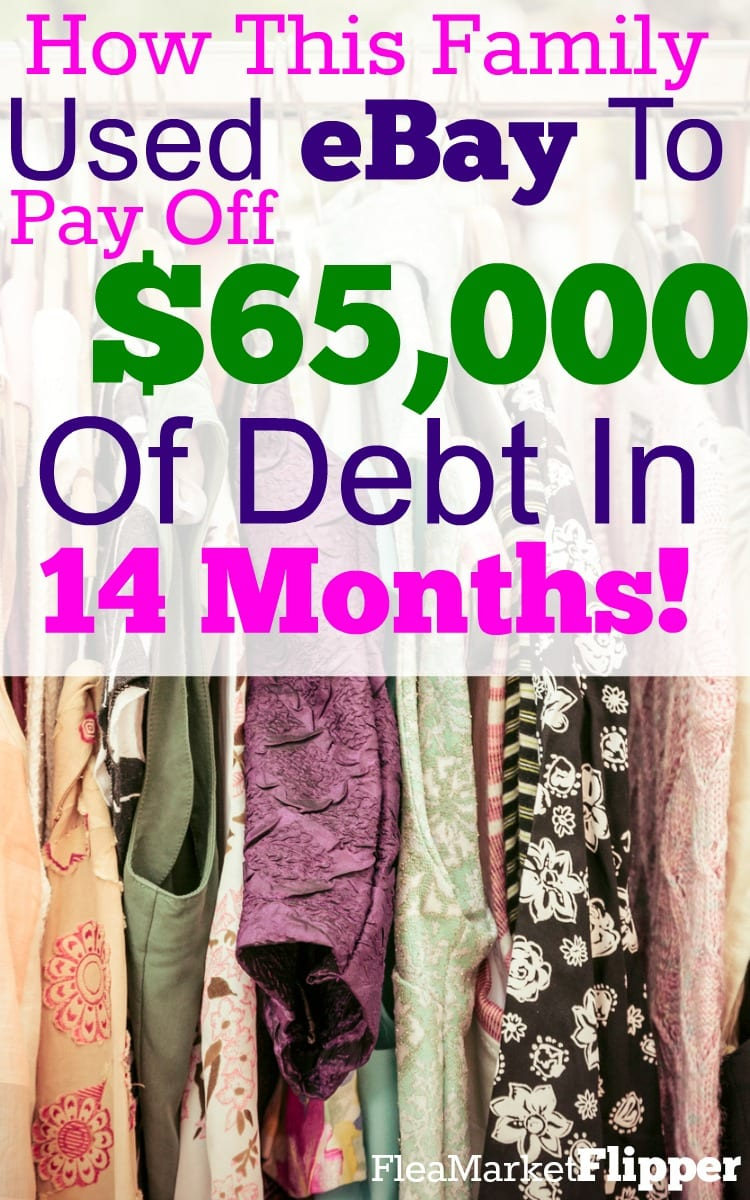 How this family used eBay to pay of $65,000 of debt in 14 months! #ebay #debt #flipping #profit #income #sidehustle #reseller #reselling