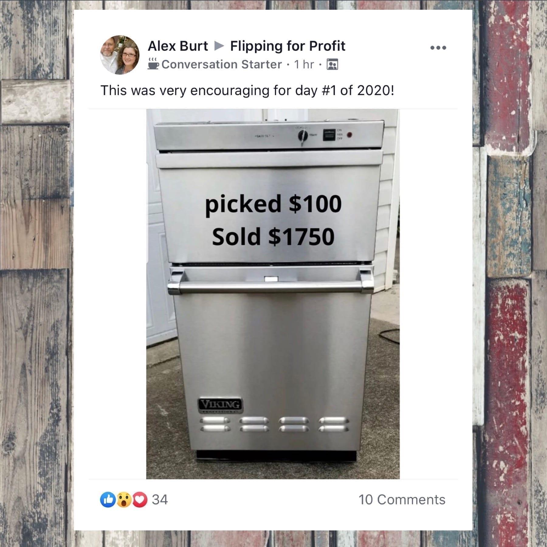 flipping used items on ebay